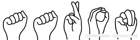 Aaron in Fingersprache für Gehörlose