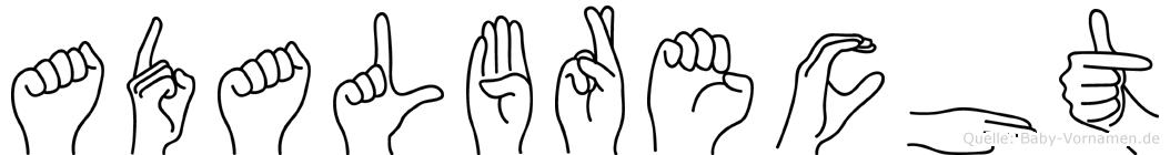 Adalbrecht in Fingersprache für Gehörlose