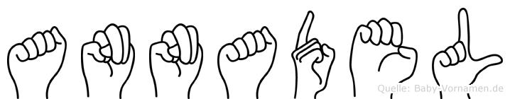 Annadel im Fingeralphabet der Deutschen Gebärdensprache