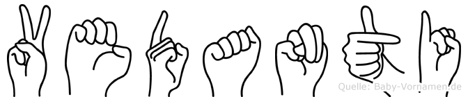 Vedanti im Fingeralphabet der Deutschen Gebärdensprache