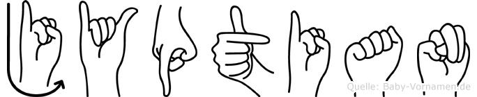 Jyptian im Fingeralphabet der Deutschen Gebärdensprache