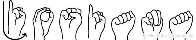 Josiana in Fingersprache für Gehörlose
