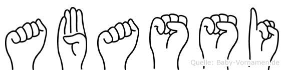 Abassi in Fingersprache für Gehörlose