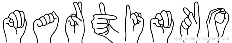 Martinko in Fingersprache für Gehörlose
