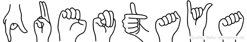 Quentaya in Fingersprache für Gehörlose