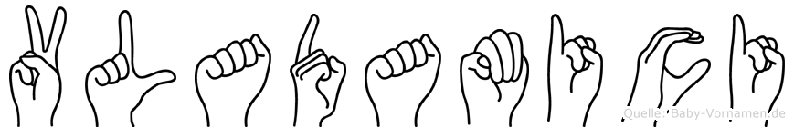 Vladamici in Fingersprache für Gehörlose