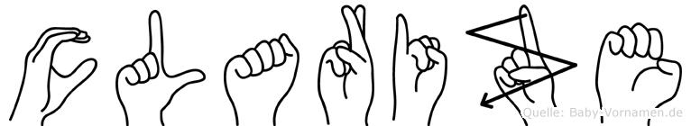 Clarize im Fingeralphabet der Deutschen Gebärdensprache