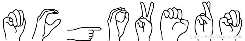 Mcgovern im Fingeralphabet der Deutschen Gebärdensprache
