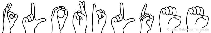 Florildee in Fingersprache für Gehörlose