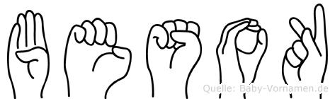 Besok im Fingeralphabet der Deutschen Gebärdensprache