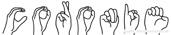 Coronie in Fingersprache für Gehörlose