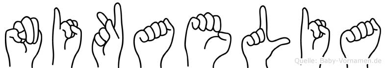 Nikaelia in Fingersprache für Gehörlose