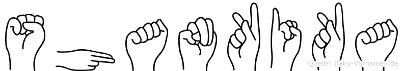 Shankika in Fingersprache für Gehörlose