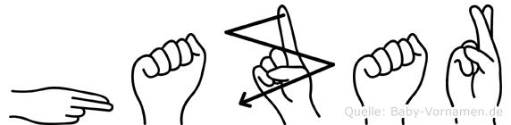 Hazar in Fingersprache für Gehörlose