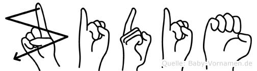 Zidie in Fingersprache für Gehörlose