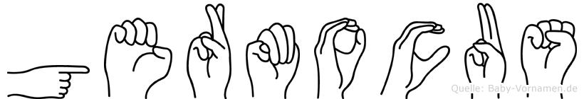 Germocus im Fingeralphabet der Deutschen Gebärdensprache