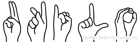 Ukilo in Fingersprache für Gehörlose