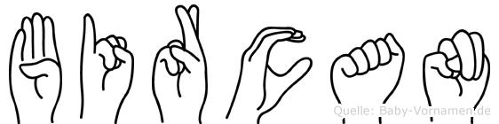 Bircan im Fingeralphabet der Deutschen Gebärdensprache