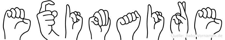 Eximaire im Fingeralphabet der Deutschen Gebärdensprache
