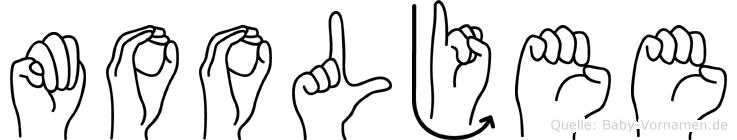 Mooljee in Fingersprache für Gehörlose