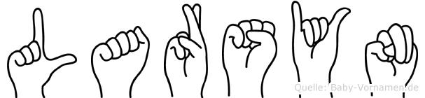 Larsyn im Fingeralphabet der Deutschen Gebärdensprache