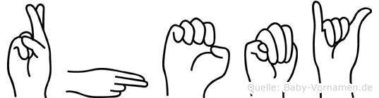 Rhemy in Fingersprache für Gehörlose