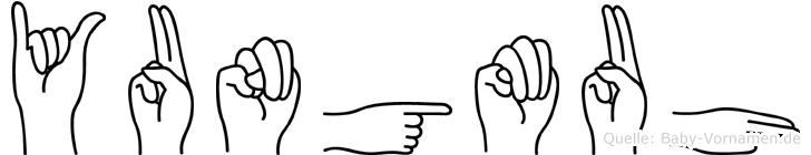 Yungmuh in Fingersprache für Gehörlose