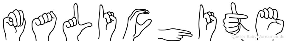Malichite in Fingersprache für Gehörlose