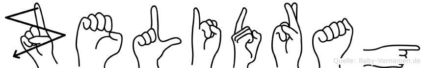 Zelidrag in Fingersprache für Gehörlose