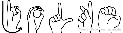 Jolke in Fingersprache für Gehörlose