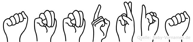 Anndria im Fingeralphabet der Deutschen Gebärdensprache