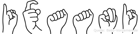 Ixaani in Fingersprache für Gehörlose