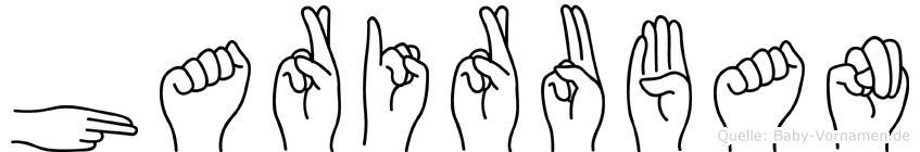 Hariruban im Fingeralphabet der Deutschen Gebärdensprache