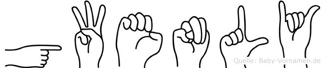 Gwenly im Fingeralphabet der Deutschen Gebärdensprache
