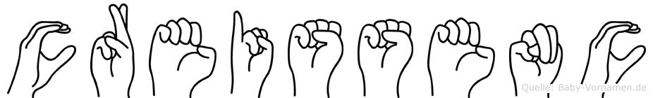 Creissenc in Fingersprache für Gehörlose