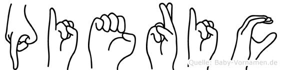 Pieric in Fingersprache für Gehörlose