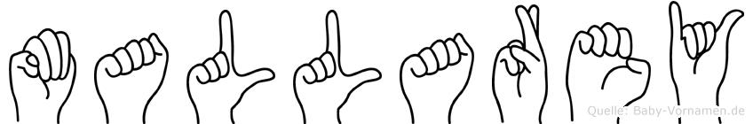 Mallarey in Fingersprache für Gehörlose