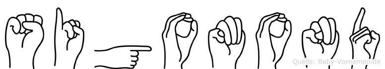 Sigomond im Fingeralphabet der Deutschen Gebärdensprache