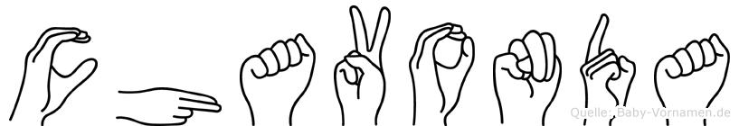 Chavonda in Fingersprache für Gehörlose