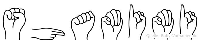 Shamimi in Fingersprache für Gehörlose