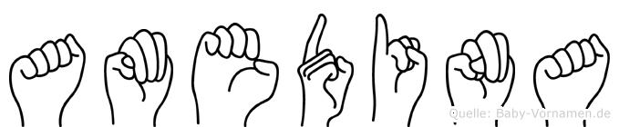 Amedina in Fingersprache für Gehörlose