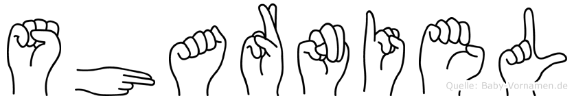 Sharniel im Fingeralphabet der Deutschen Gebärdensprache