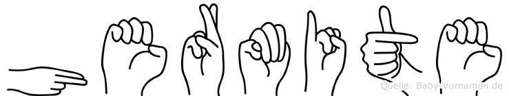 Hermite im Fingeralphabet der Deutschen Gebärdensprache