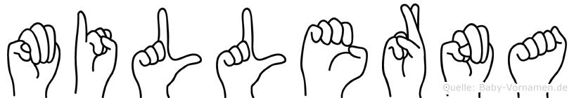 Millerna im Fingeralphabet der Deutschen Gebärdensprache