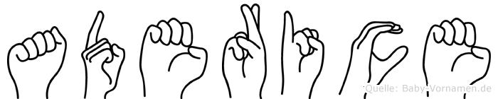 Aderice in Fingersprache für Gehörlose