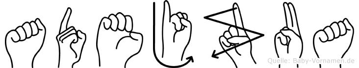 Adejzua in Fingersprache für Gehörlose