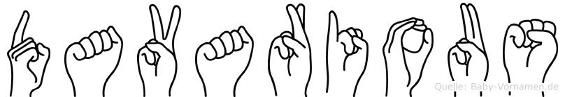 Davarious in Fingersprache für Gehörlose