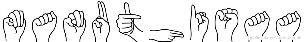 Manuthisaa in Fingersprache für Gehörlose