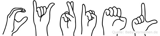 Cyriel in Fingersprache für Gehörlose