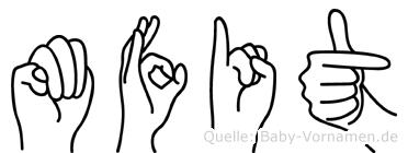 Müfit im Fingeralphabet der Deutschen Gebärdensprache
